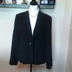 Style & Co black one button blazer size 14